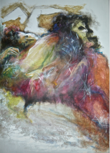 2014 Technique mixte sur toile, 118x80