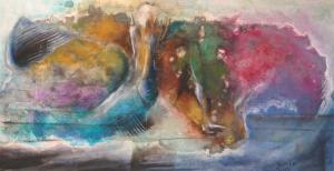 2014 Technique mixte sur toile, 60x120